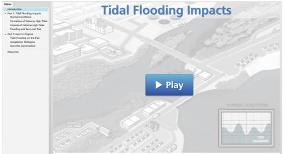 Tidal Flooding Impacts Movie