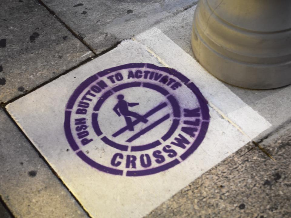004 Purple Sidewalk Emblem