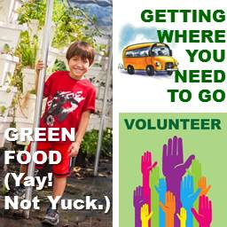 Green Food Get Where You Need to Go and Volunteer