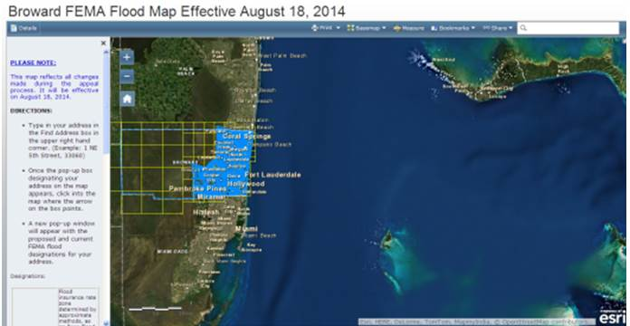 City Of Fort Lauderdale Fl Flood Zone Designations Flood Maps