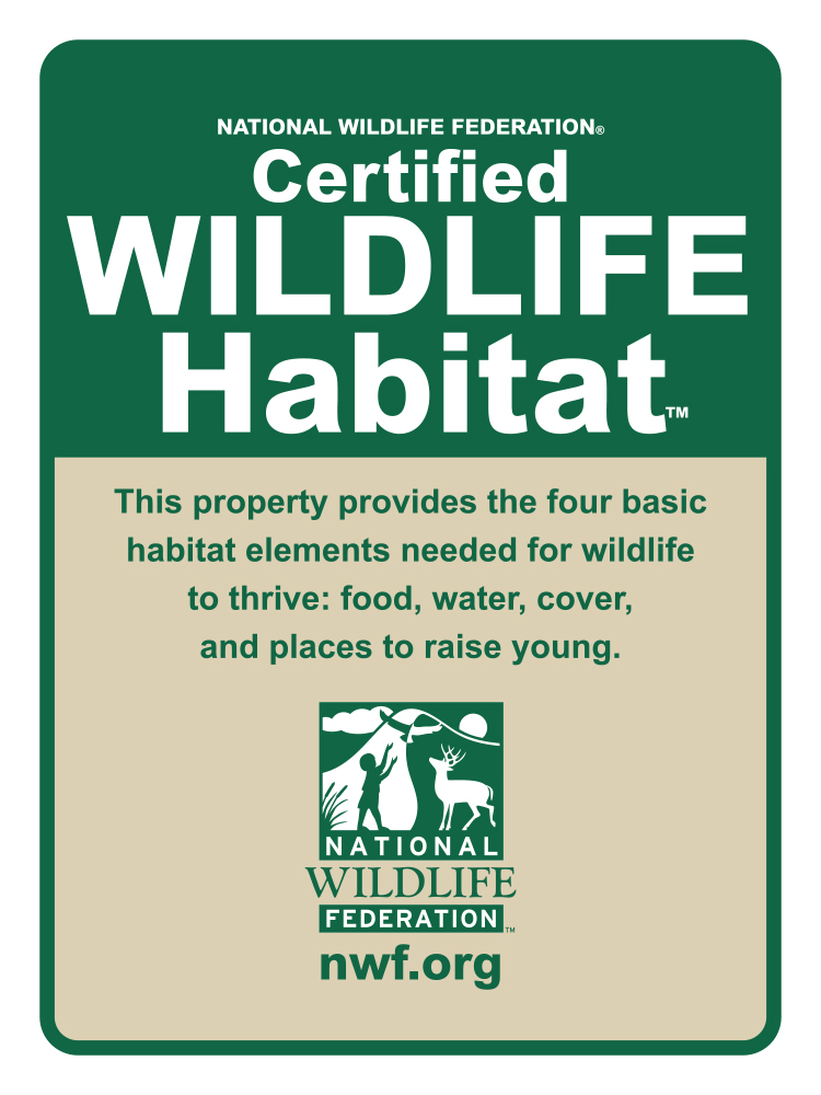 2014 Certified Wildlife Habitat Sign