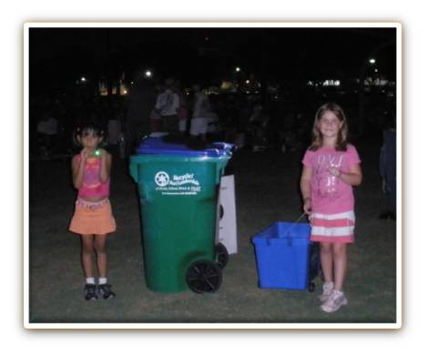 Kids Collecting Recycling at Starlight Festivals
