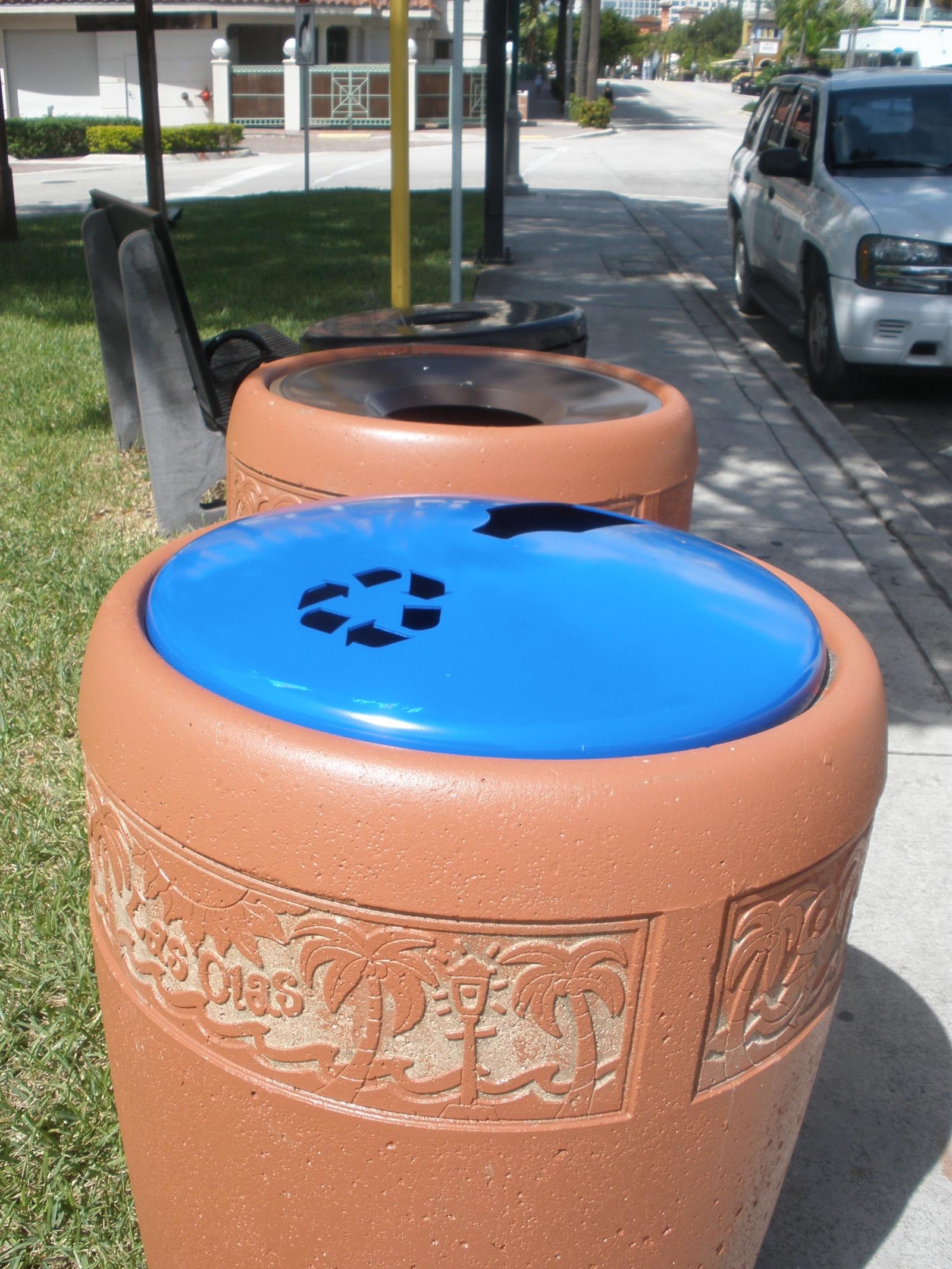 Customized Containers at a Las Olas Park