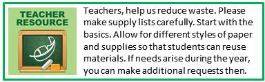Teacher Supply Request