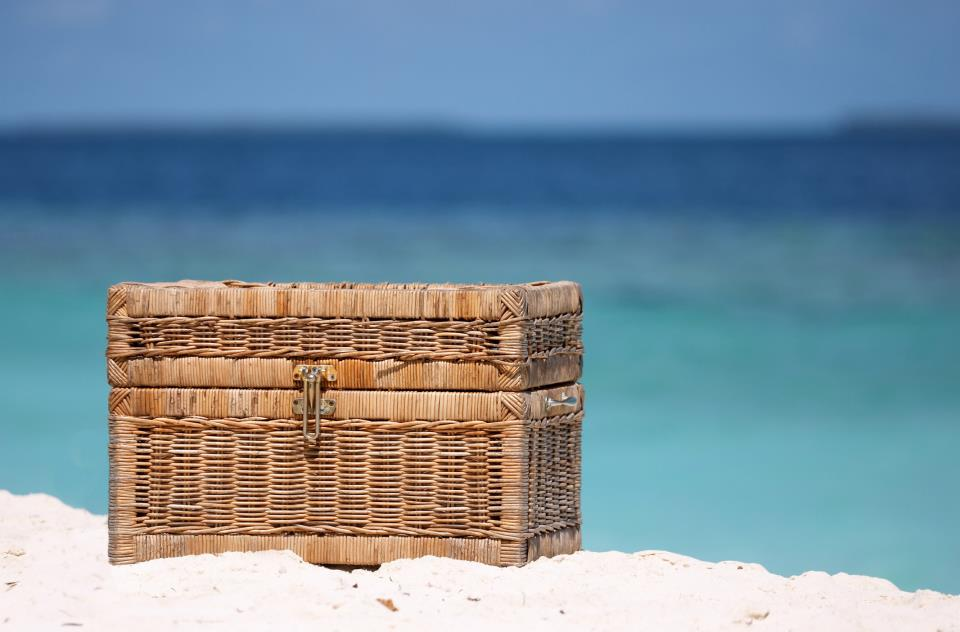 Basket on beach
