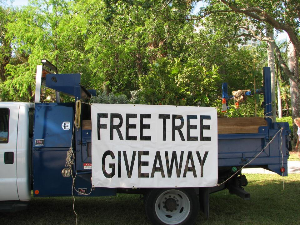 Tree Giveaway Truck
