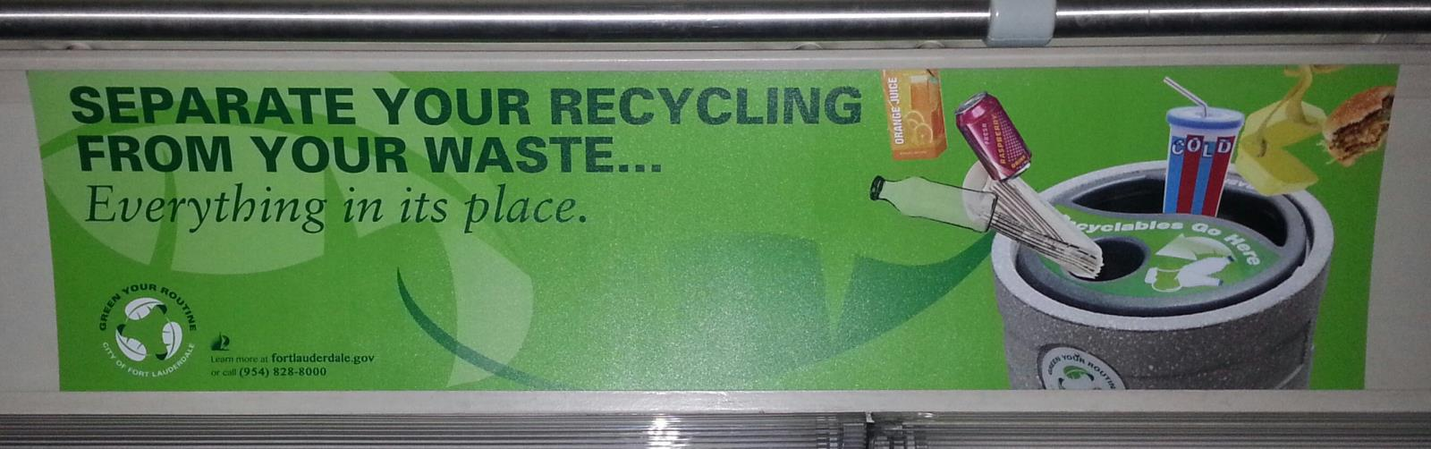 Educating Bus Passengers about Recycling