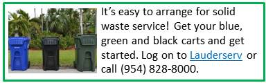 Start Solid Waste Service