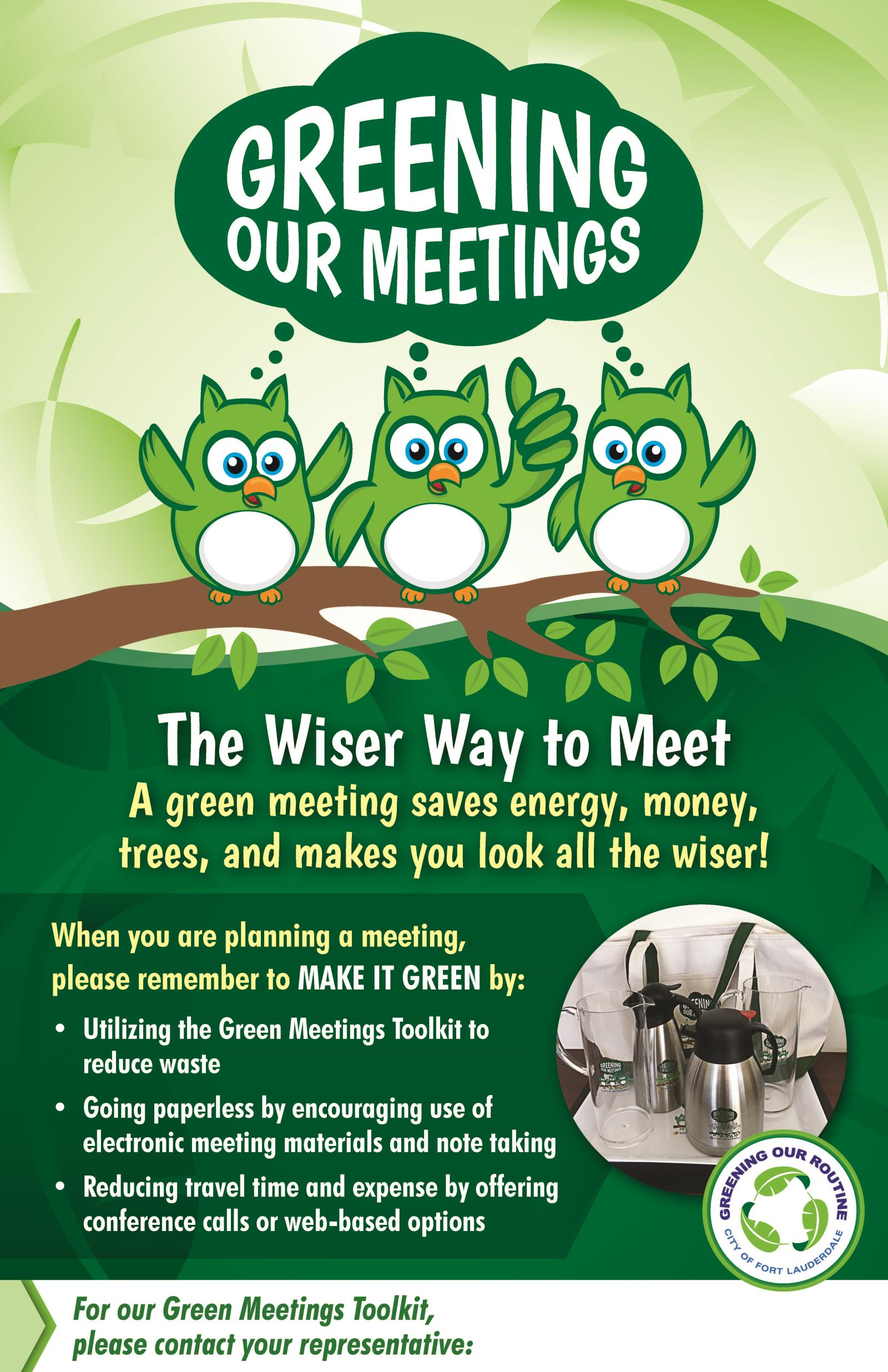 Greening our Meetings Poster