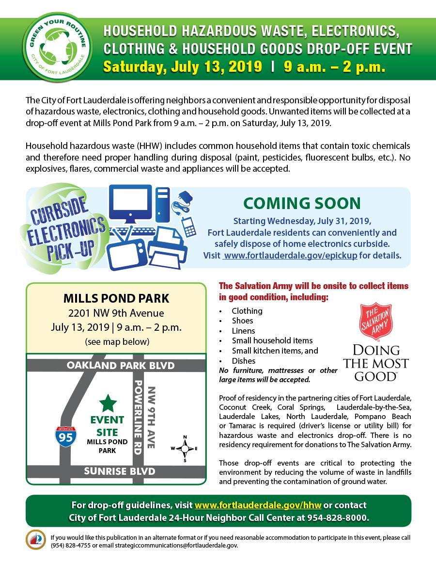 City of Fort Lauderdale, FL : Calendar Meeting List : Household